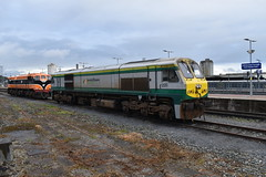 A preview of sorts of the upcoming October Diesel Double? (NirateGoel) Tags: éireann iarnródéireann irish rail irishrail class201 class071 class 071 201 073 220 cork kent iarnród