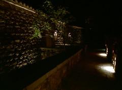 Late night Aman  (MF Pro400H) (Harald Philipp) Tags: night hotel dark pentax 645 645n 645nii pro400h montenegro svetistefan