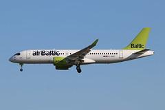 YL-AAS Airbus 220-300 / Bombardier CS300 (Retro Jets) Tags: lgw airbaltic a220 cs300