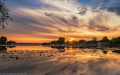 Sunset on the Dämeritzsee in Erkner (Steppenwolf33) Tags: sunset dämeritzsee lake erkner water clouds reflexions steppenwolf33