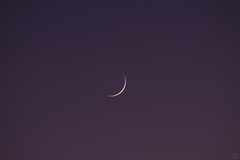 August 31, 2019 (splinx1) Tags: moon crescentmoon sky handheld pentaxart pentaxks2 deeppurple