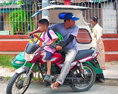 Let's go (Beegee49) Tags: street people man boy father son happyplanet sony a6400 motorbike tricycle silay city philippines asia asiafavorites