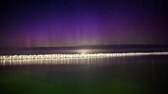 Norther lights in Door County (Plump Panda Photography) Tags: rocks water primelens doorcounty longexposure northernlights 28mmf28 6d canon