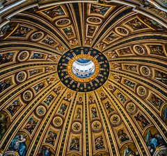 St Peter's Basilica Dome (yorgasor) Tags: sony a7r2 a7rii voigtlander nokton 35mm f12 architecture dome stpetersbasilica vatican vaticancity catholic