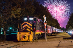"""Biggest Boom on Earth"" (Carlos Ferran) Tags: crc cincinnati railway company ohio rail experience fireworks webn train night photography nkp nickel plate road city urban rails oasis sub"