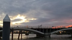 Setting Sun (Capella Silverangel) Tags: add tags shadow column columns upward restingplace pitstop rest perch look stand sit inspiring different nice lovely love awesome photo photograph art amaing reflection form architecture grey black lookslike lookalike chimne lungs piping pipes seating threesome trio symmetry paralell bridge traintrack train sunset brickwork cloudy colourful red scarlett riverthames thames river lights arches arch stormy moodyarty emotive turner painter artist photograher