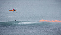 Search and Rescue (Jack Landau) Tags: ch146 griffon 2019 canadian international air show cne airshow exhibition search rescue helicopter rcaf humber bay lake ontario smoke colour aviation water diver canon 5d jack landau