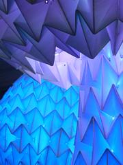 32/52 -- 2019 -- Blueshroom (Pandora-no-hako) Tags: project52 art museum cincinnati ohio light monochrome 2019 sculpture burningman nospectators cincinnatiartmuseum blue geometry