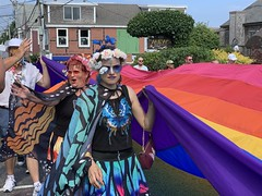 Carnival 2019, P'town MA (Boston Runner) Tags: provincetown ptown carnival 2019 enchantedforest parade costumes massachusetts capecod keywest rainbowflag pride 100feet large butterfly