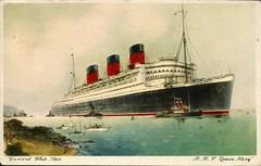 Cunard White Star - R.M.S. Queen Mary (tico_manudo) Tags: cunardwhitestarline trasatlánticos queenmary rmsqueenmary cartespostalesanciennes vintagepostcards