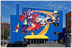 Arlington (Rex Block) Tags: nikon d750 dslr 1835mm wide zoom washington dc street walker female pedestrian graffitii monochrome bw ekkidee arlington