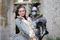 Portrait from Fantasy Forest at Sudeley Castle, July 2019 (Gordon.A) Tags: sudeley castle winchcombe cotswolds gloucestershire england uk fantasy forest july 2019 festival event creative costume armour armor design style lifestyle culture subculture pretty lady woman people face model pose posed posing outdoor outdoors outside naturallight colour colours color colors amateur portrait portraiture photography digital canon eos 750d sigma sigma50100mmf18dc