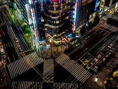 Night shadows at Ginza (kristenscotti) Tags: city tokyo ginza japan asia color night lights urban longexposure skyline stores walking people street car windows neon vibrance excellent coollight hipster retro reflections network illumination weather olympus nikon gap crossing stripes black white blue yellow pink red shop fog glas purple instagood love photooftheday happy picoftheday summer art girl style travel life photography beautiful like4like follow smile lighttrails trails silver metal building paintedwindows lightpaint signs ciudad stars time zuiko f28 composite