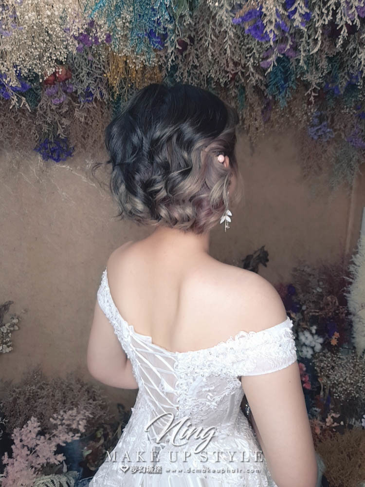 【新秘羽寧】新娘造型創作 /  短髮-甜美造型
