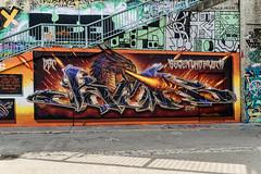 Art at Danube Canal in Vienna (a7m2) Tags: danube canal vienna art graffiti schwedenplatz marienbrücke kunst travel tourismus