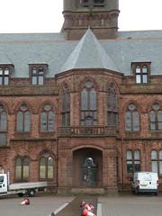 Barrow - Town Hall, Main Entrance 190810 (maljoe) Tags: barrow barrowinfurness townhall