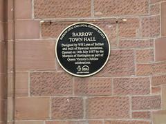 Open Plaque - Barrow [Town Hall] 190810 (maljoe) Tags: openplaque openplaques plaque plaques barrow barrowinfurness townhall