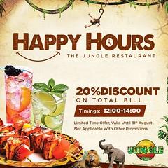 Enjoy Happy Hour Discount at Jungle Restaurant muscat (The_Jungle_Restaurant) Tags: best restaurant muscat bestomanirestaurants traditionalfoodinoman themerestaurant rainforestrestaurantmuscat