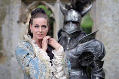 Portrait from Fantasy Forest at Sudeley Castle, July 2019 (in explore) (Gordon.A) Tags: sudeley castle winchcombe cotswolds gloucestershire england uk fantasy forest july 2019 festival event creative costume armour armor design style lifestyle culture subculture pretty lady woman people face model pose posed posing outdoor outdoors outside naturallight colour colours color colors amateur portrait portraiture photography digital canon eos 750d sigma sigma50100mmf18dc inexplore explore explored