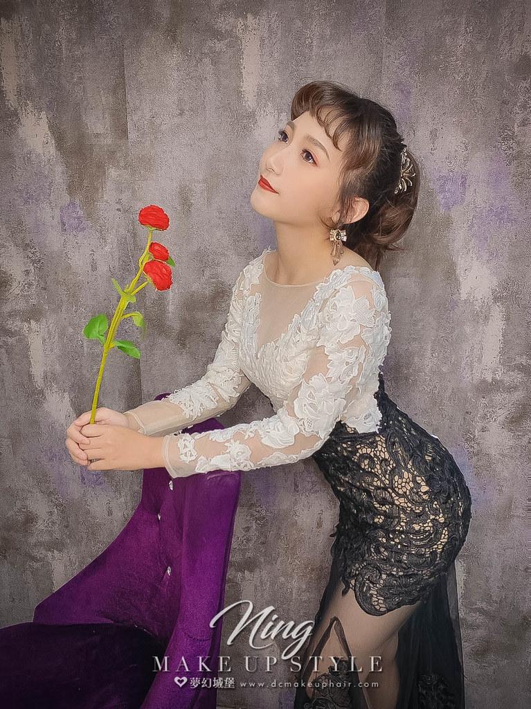 【新秘羽寧】新娘造型創作 /  短髮-高馬尾造型