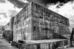 megalomania (the ripped bystander) Tags: blackwhite blockhaus sky