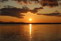sunset 03 (Irmzaq photography) Tags: sunset sunsetphotography photography sun clouds sky water lake waves sweden nature naturephotography