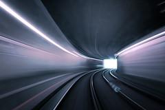 End of the Tunnel (lfeng1014) Tags: endofthetunnel tram tames12 vienna austria underground wien tracks tunnel motion longexposure canon5dmarkiii ef2470mmf28liiusm warpspeed curves light 2seconds lighttrails travel lifeng