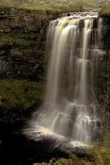 Hellgill Force (vincocamm) Tags: cumbria valley mallerstang waterfall hellgill rocks grass eden river rivereden water splash green grey d5500 nikon september