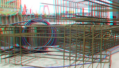 OurDomain Rotterdam 3D (wim hoppenbrouwers) Tags: ourdomain rotterdam 3d anaglyph stereo redcyan bright nieuwbouw blaak willemsbrug