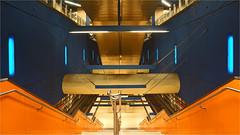 the stairs (leuntje) Tags: munich münchen bayern bavaria germany deutschland ubahnhof metrostation architecture stairs olympiaeinkaufszentrum underground subway betzarchitekten