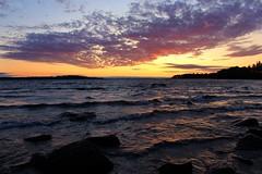 sunset 07 (Irmzaq photography) Tags: sunset sunsetphotography photography sun clouds sky water lake waves sweden nature naturephotography