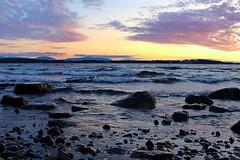sunset 06 (Irmzaq photography) Tags: sunset sunsetphotography photography sun clouds sky water lake waves sweden nature naturephotography