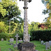 Church of St Andrew, Nuthurst, West Sussex - churchyard gabled cross column monument 02