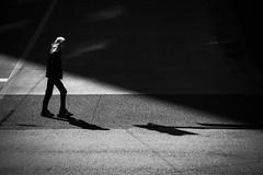 light crossing (bluechameleon) Tags: sharonwish blackandwhite city light lines man person shadows sharonwishphotography street streetphotography texture urban vancouver gastown ngc