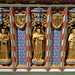 Church of St Andrew, Nuthurst, West Sussex - chancel altar table niches, left