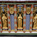 Church of St Andrew, Nuthurst, West Sussex - chancel altar table niches, centre