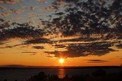 sunset 01 (Irmzaq photography) Tags: sunset sunsetphotography photography sun clouds sky water lake waves sweden nature naturephotography