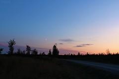 half moon (Irmzaq photography) Tags: halfmoon moon night naturephotography jämtland nature photography forest sky