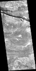 Cerberus Fossae, variant (sjrankin) Tags: 4september2019 edited nasa grayscale mars marsodyssey valley fissure crack crater cerberusfossae fossae