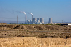 Industrial China (RiserDog) Tags: industry powerstation jiayuguan jiayuguanfort silkroad gansu china asia chimneystacks