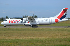 F-HOPX, ATR 72-600 (72-212A), c/n 1257, HOP! for Airfrance, ORY/LFPO, 2019-08-21, on taxiway W47. (alaindurandpatrick) Tags: fhopx cn1257 atr72212a atr atr72 atr72600 atr7260072212a airliners propeliners propellerdrivenairliners turbopropairliners hop hopforairfrance airhop a5 airlines ory lfpo parisorly airports aviationphotography