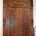Church of St Andrew, Nuthurst, West Sussex - incumbents roll board