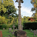 Church of St Andrew, Nuthurst, West Sussex - churchyard gabled cross column monument 01