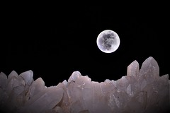 Moonlight on the Quartz mountains (montseny visions) Tags: moon light composition abstract sky nature night art bw ngysa ngysaex