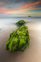 Green (Txeny4) Tags: benidorm rocas mar sedas sea sky atardecer agua alicante largaexposicion playa marinabaixa minimal haida lucroit nd nisi nubes
