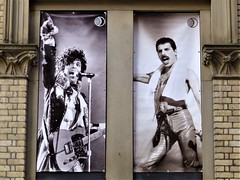 Manchester = Freddie Mercury and Prince poster (rossendale2016) Tags: mercury prince freddie club night poster nightclub queen two musicians icons sadly missed manchester