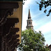 Dock Street Theatre (left) and St. Philip's Church (right). Charleston, SC.
