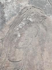 Carved stone (magellano) Tags: giappone japan tokyo sensojii sensoji tempio temple pietra stone incisa carved figura figure volto faccia face
