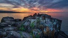 Sunrise at Artist Point (Paul Domsten) Tags: grandmarais minnesota artistpoint sunrise colors lakesuperior northshore pentax water lake