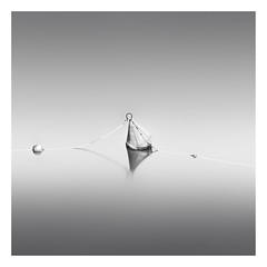 30 degrees (Marco Maljaars) Tags: longexposure lagodilegro italy le blackandwhite marcomaljaars monochrome minimalism lake mood buoy waterscape light bw water rope silence shade reflection 30degrees